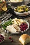 Cena hecha en casa de Turquía de la acción de gracias Fotografía de archivo libre de regalías