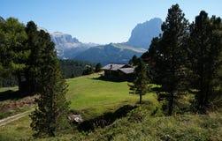Cena idílico no cume de Mastle em Tirol sul Fotografia de Stock