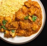 Cena indiana dell'alimento del curry del pollo Fotografie Stock Libere da Diritti