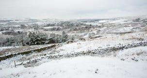 Cena inglesa da paisagem do inverno foto de stock