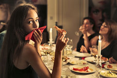 Cena insieme Fotografie Stock