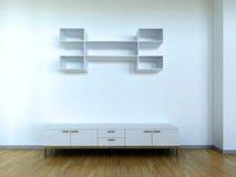 Cena interior com armário ilustração stock