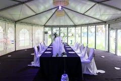 Cena interna do casamento Fotografia de Stock Royalty Free