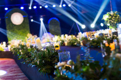 Cena interna do casamento Foto de Stock Royalty Free