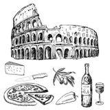 Cena italiana Ilustración del Vector