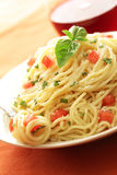 Cena italiana fresca Foto de archivo