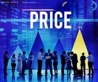 Cena kosztu pieniądze produktu tempa Wydatkowy pojęcie Fotografia Stock