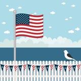 Cena litoral dos EUA Imagens de Stock