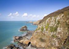 Cena litoral em Sark Fotografia de Stock