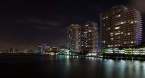 Cena litoral inter da noite de Miami Beach foto de stock royalty free