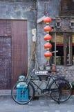 Cena local de Hutong do chinês, Pequim velho Fotos de Stock Royalty Free