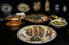 Cena messicana del taco del manzo Fotografia Stock