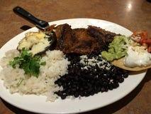 Cena mexicana de lujo de la comida Imagen de archivo