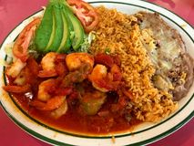 Cena mexicana de Resturaunt de la comida Foto de archivo libre de regalías