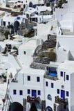 Cena no console de Santorini, Greece Fotografia de Stock