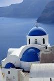 Cena no console de Santorini, Greece Imagens de Stock