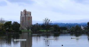 Cena no lago Merritt, Oakland Califórnia 4K video estoque