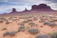 Cena no vale, no Arizona e no Utá do monumento Fotografia de Stock