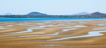 Cena norte da praia de Queensland fotografia de stock royalty free
