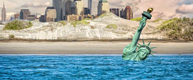 Cena nuclear do apocalipse de New York Post Imagens de Stock Royalty Free