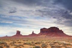 Cena ocidental no vale, no Arizona e no Utá do monumento Imagem de Stock Royalty Free