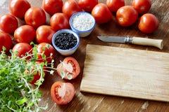 Cena orgânica do tomate foto de stock royalty free
