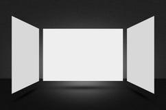 Cena ou fundo preto da textura Foto de Stock