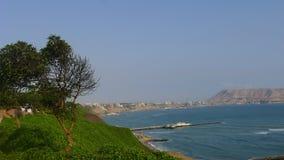 Cena panorâmico de Miraflores à baía de Lima Fotos de Stock Royalty Free