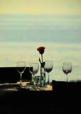 Cena para cuatro fotos de archivo
