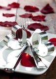 Cena para el día de tarjetas del día de San Valentín Fotografía de archivo