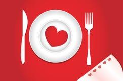 Cena para los amantes Fotografía de archivo libre de regalías