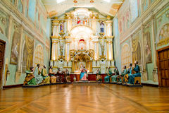 Cena pasada de Cristo con las estatuas de tamaño natural imágenes de archivo libres de regalías