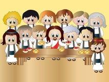 Cena pasada de Jesús Imagenes de archivo