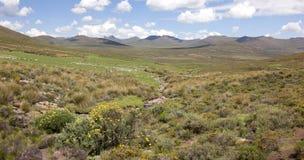 Cena pastoral de Lesoto. Fotos de Stock Royalty Free