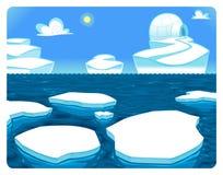 Cena polar. ilustração do vetor