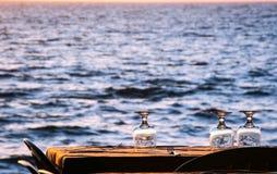 Cena por el mar Foto de archivo