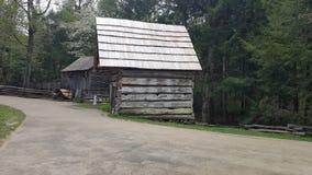 Cena primitiva do leste da natureza de Tennessee Sevierville Pigeon Forge Gatlinburg das montanhas fumarentos da angra de Cades Fotografia de Stock