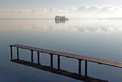 Cena quieta no lago de schwerin, Alemanha Imagem de Stock Royalty Free