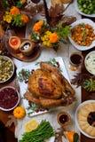 Cena rústica de Thankgiving Foto de archivo
