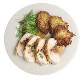 Cena rellena del pecho de pollo Fotografía de archivo