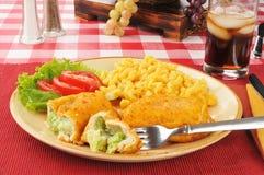 Cena rellena del pollo Fotografía de archivo libre de regalías
