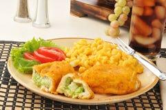 Cena rellena del pollo Imagenes de archivo