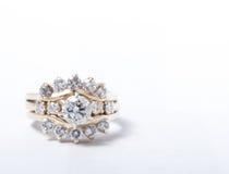 Cena Ring Diamond en blanco Fotografía de archivo