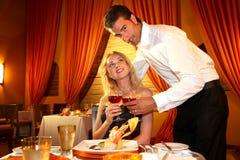 Cena romántica Foto de archivo libre de regalías