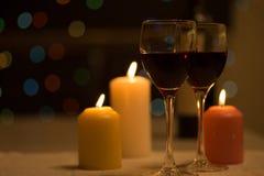 Cena romántica Foto de archivo