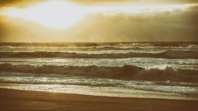 Cena romântica da praia do vintage Fotografia de Stock