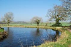 Cena rural do canal de Devon Imagem de Stock Royalty Free
