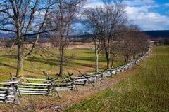 Cena rural no campo de batalha de Antietam imagens de stock