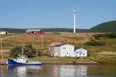Cena rural pitoresca com moinho de vento Imagem de Stock Royalty Free