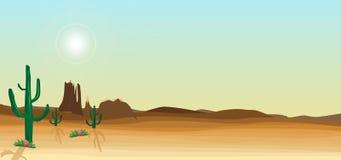 Cena selvagem do deserto ilustração royalty free